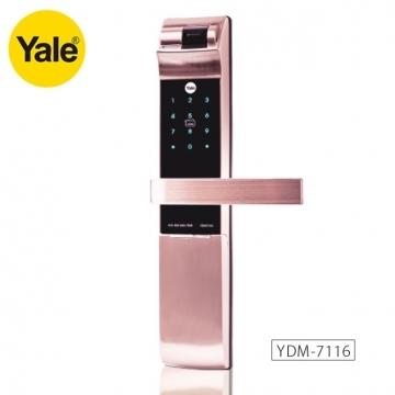 【Yale耶魯新品】Yale官網指紋鎖YDM7116防盜門鎖/大門鎖/電子智能鎖/密碼鎖